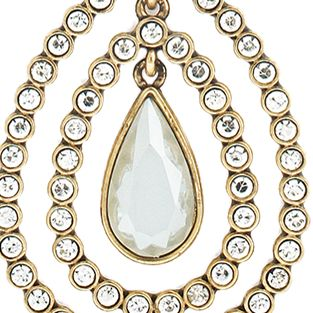 Jewelry & Watches: Jessica Simpson Fashion Jewelry: Opal Jessica Simpson Feather Burst Teardrop Long Pendant Necklace