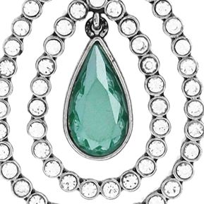 Jewelry & Watches: Jessica Simpson Fashion Jewelry: Green Jessica Simpson Feather Burst Teardrop Long Pendant Necklace