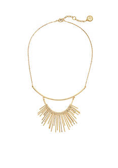 Jessica Simpson Gold-Tone Hammered Metal Collar Necklace