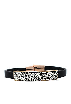 Jessica Simpson Wildside Black and Crystal Bracelet