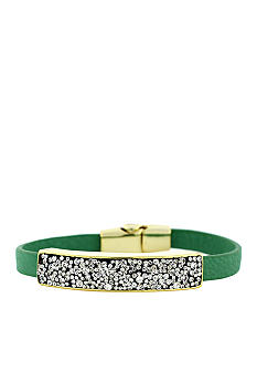 Jessica Simpson Wild Side Green and Crystal Bracelet