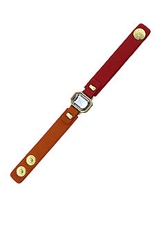 Jessica Simpson Orange and Coral Tropic Nights Button Snap Bracelet