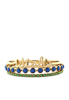 Jessica Simpson Gold Wish Bangle Set