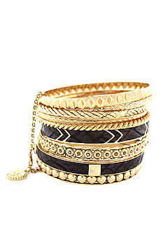 Jessica Simpson Gold Princess Bangle Set