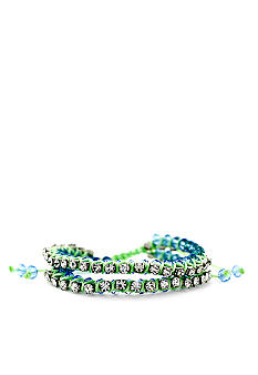 Jessica Simpson Green Cord Tropic Nights Bracelet