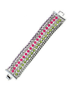 Jessica Simpson Fuchsia Tropic Nights Chain Link Bracelet