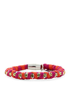 Jessica Simpson Fuchsia and Orange Color Wheel Bracelet