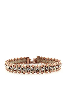 Jessica Simpson Around the Way Cream Woven Bracelet