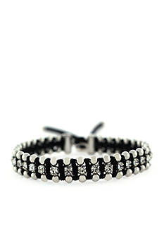 Jessica Simpson Around the Way Black Bracelet