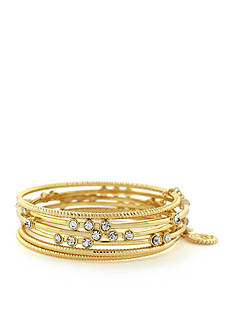 Jessica Simpson 6-Piece Crystal Bangle Bracelet Set