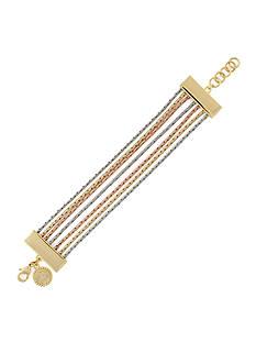 Jessica Simpson Tri-Tone Line Bracelet
