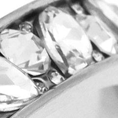 Juniors Bracelets: Silver Jessica Simpson S CRYS L BANGLE