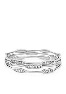 Jessica Simpson Crystal Motif Bangle Bracelet Set