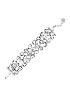 Jessica Simpson Silver-Tone Chain Wrap Bracelet