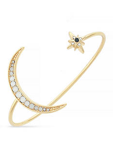 Jessica Simpson Gold-Tone Large Moon and Star Cuff Bracelet