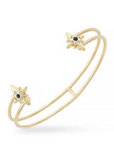 Jessica Simpson Gold-Tone Double Star Cuff Bracelet