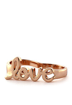Jessica Simpson Rose Gold Love Double Ring