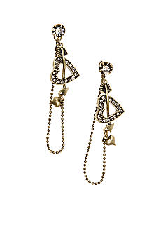 Betsey Johnson Heart and Arrow Earrings