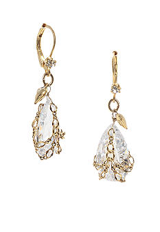 Betsey Johnson Briolette Crystal Drop Earring