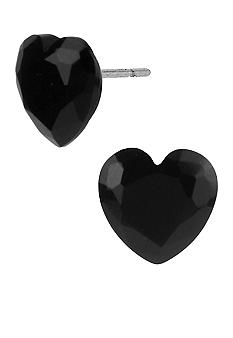 Betsey Johnson Earring - Faceted Heart Stud