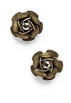 Betsey Johnson Glitter Flower Earrings