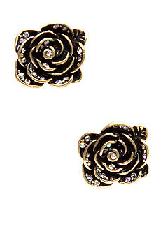 Betsey Johnson Small Flower Stud Earrings
