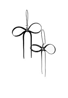 Betsey Johnson Black Bow Drop Earring