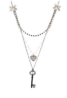 Betsey Johnson Heart & Key Necklace