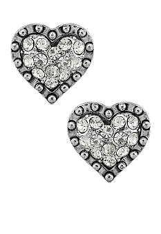 Betsey Johnson Crystal Heart Stud Earring