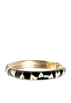 Betsey Johnson Skinny Heart Hinged Bangle Bracelet