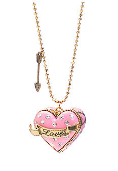 Betsey Johnson 'Love' Heart Pendant Long Necklace