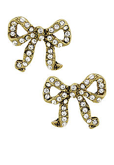 Betsey Johnson Crystal Bow Stud Earring