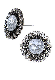 Betsey Johnson Crystal Burst Stud Earrings