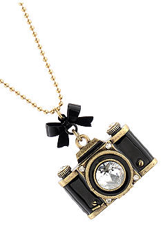 Betsey Johnson Large Camera Long Necklace
