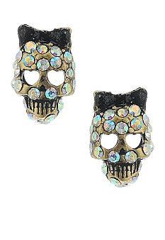 Betsey Johnson Small Skull Stud Earring