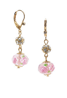 Betsey Johnson Flower Bead Drop Earring