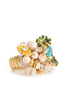 Betsey Johnson Blue Frog Shaky Stretch Ring
