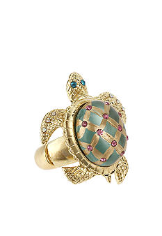 Betsey Johnson Turtle Stretch Ring