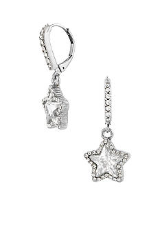 Betsey Johnson Crystal Star Drop Earrings