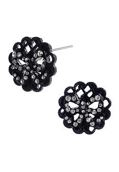 Betsey Johnson Filigree Medallion Stud Earrings