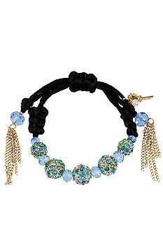 Betsey Johnson Crystal Fireball Pulley Bracelet
