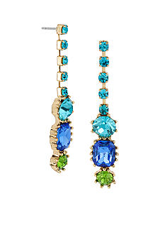 Betsey Johnson Crystal Gem Linear Earrings
