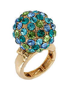 Betsey Johnson Crystal Fireball Stretch Ring