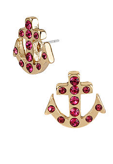 Betsey Johnson Anchor Stud Earrings