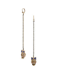 Betsey Johnson Skull Linear Earrings