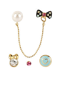 Betsey Johnson Multi Charm 5-Stud Earring Set