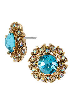 Betsey Johnson Crystal Gem Stud Earrings