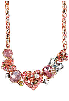 Betsey Johnson Vintage Heart Frontal Necklace