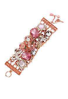 Betsey Johnson Vintage Heart Toggle Bracelet