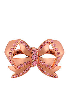 Betsey Johnson Bow Two-Finger Stretch Ring